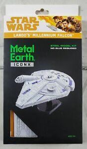 Fascinations Landos Millennium Falcon Star Wars Metal Earth ICONX-Premium NWT