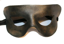Old Golden Sparkle Simple Superhero  Leather Handmade Mask Venetian Masquerade