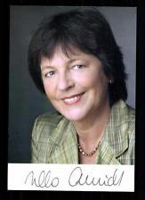 Ursula Schmidt AUTOGRAFO MAPPA ORIGINALE FIRMATO # BC 29598