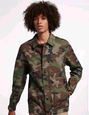Nike Mens Sb Flex Camo Button Up Skateboard Jacket Size Medium Ah2331 222