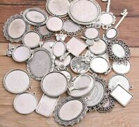 Zinc Alloy Metal Charms Pendant For Jewelry Findings Brooch Base DIY Accessories