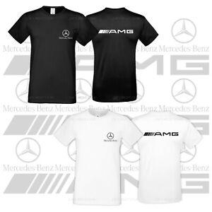 Mercedes Benz AMG Logo Cotton Tshirt Emblem Car Moto Mens Shirt All Sizes S XXXL