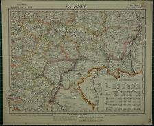 1883 LETTS MAP ~ RUSSIA IMPORTS SAMARA OUFA SARATOV VORONEJ