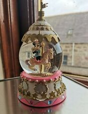 More details for disney minnie mouse carousel pink snow globe
