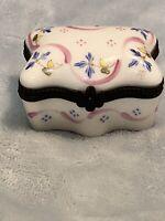 Limoges France Peint Main Hand Painted Trinket Box