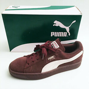 Puma Suede Classic Lace Up Sneakers Women's Peppercorn / White 355462-80 NEW