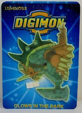 DIGITAL DIGIMON MONSTERS VTG 1999 GOMAMON WALL STICKER GLOWS IN THE DARK MOSC