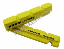 Sram SwissStop Road Bike Brake Pad Inserts Pair Yellow for Carbon Rims