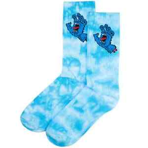 Santa Cruz Screaming Hand Tie Dye Socks - Blue