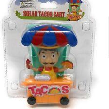Solar Powered Dancing Mexican Solar Taco Street Cart Bobblehead Toys New Tacos