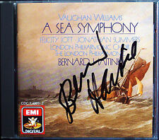 Bernard HAITINK Signiert VAUGHAN WILLIAMS A Sea Symphony EMI CD Felicity Lott