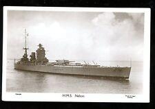 Royal Navy HMS Nelson u/b vintage RP PPC
