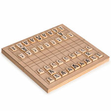Wooden Shogi Game Set Japanese Chess w/ Folding Board