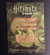 1990s NYC Club Flyer: ULTIMATE w/ CARL COX, Jim Masters, & Mark Lewis  @ TWILO