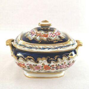 Coalport Porcelain Covered Sucrier Anstice Horton Rose c1813 Antique
