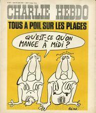 """""""CHARLIE HEBDO N°245 du 24/7/1975"""" REISER : TOUS A POIL SUR LES PLAGES"""