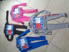 """Girls bundle age 7-8-9-10-11-12-13 mixed item clothes leggings """"in my jeans"""" top"""