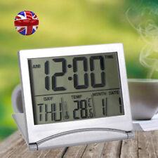 Digital LCD Folding Desk Travel Alarm Clock Trip With Temperature Date Calendar