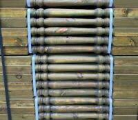 PACK OF 25 x WOODEN DECKING SPINDLES 41 x 41 x 895mm TRADITIONAL COLONIAL STYLE