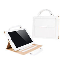 iPad Air 2 White PU Leather Smart Stand Carrying Case Cover Handbag Style