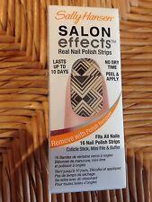 Sally Hansen Salon Effects 16 Nail Polish Strips Tri-Bal it On Black White