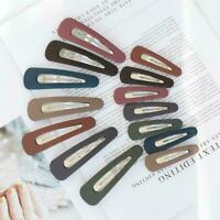 Cute Candy Color BB Hairpin Matte Texture Side Clip Clips Snap Hair Gifts H8P2