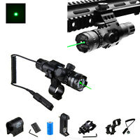 Green/Red Dot Laser Sight Hunt Remote Tail Switch& 2x Picatinny Mount For Rifle