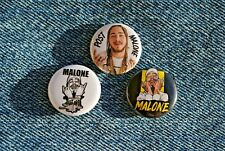 """Post Malone Buttons Pins Badge 1"""" pinback rapper Posty"""
