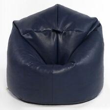 XL Filled Faux Leather Beanbags Adult Bean bag Beanbag chair Blue