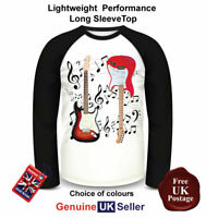 Fender Guitar T Shirt, Long Sleeve, Fender Guitar T Shirt, Men's Top,