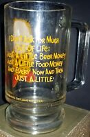 """1977 THE C.M. PAULA CO. """"I don't ask much"""" Coffee Glass Pedestal Cup Mug"""