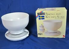 Kitchen Scale Baking EKS Sweden Model 53 with 3 Litre Mixing Bowl Lbs Kg NIB