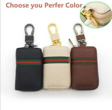 1x Black PU Leather Key Holder Bag for Auto Car SUV Pickup Offroad Universal