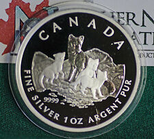 2004 CANADA $5 Arctic Fox 1 oz. 99.99% silver in proof finish