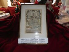 """Vintage Nicely Framed Map """"A Map of Leicester Shire"""" 1753 / '55 12 1/2"""" x 8 1/2"""""""