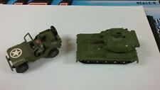 DINKY, CORGI, SOLIDO ALVIS TANK WITH JEEP AND DRIVER
