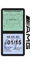 Porte vignette assurance AMG double étui adhésif voiture Stickers auto rétro