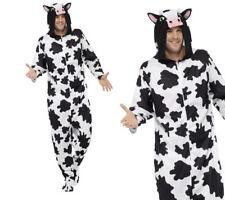 Cow Farm Animal Adults Jumpsuit Cow Fancy Dress Costume