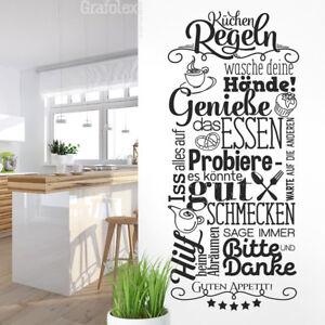 Wandtattoo Küchenregeln Esszimmer Sprüche Wand Sticker Tattoo Guten Appetit ws22