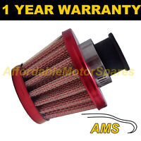 16mm MINI AIR OIL CRANK CASE BREATHER FILTER FITS MOST CARS RED CONE