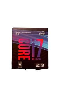 Intel Core i7-8700k LGA1151Desktop Processor 8th Gen Sealed NEW 0735858350181