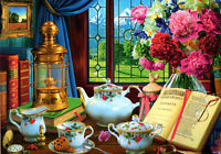 500 Pieces Jigsaw Puzzle Tea, Flowers & Books - Brand New & Sealed