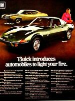 """1969 Buick GS 400 Stage 1 Opel GT LIGHT YOUR FIRE-Original Print Ad 8.5 x 11"""""""