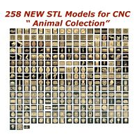 "258 3d STL Models - ""Animal Collection"" for CNC relief artcam 3d printer aspire"