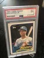 1989 Topps Traded Ken Griffey Jr. RC HOF PSA 9 #41T Mint Seattle Mariners