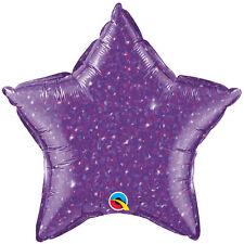"18"" Dazzeloon Purple Star Shape Balloon Wedding Baby Shower Birthday Holographic"