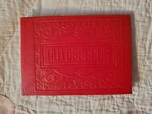 Vintage 1947 Red Autograph Book of a Teenaged Girl