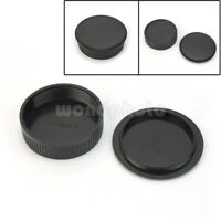 New Rear Lens + Body Cap Cover For M42 42mm Screw Mount Camera & Lens Black