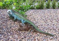 Echse Garten Deko Figur ca. 52 cm Leguan Waran Reptil lebensecht Skulptur Teich