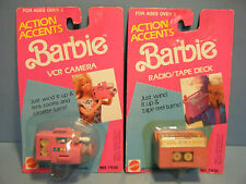 BARBIE ACTION ACCENTS VCR CAMERA & RADIO/TAPE DECK SET  *NEW*